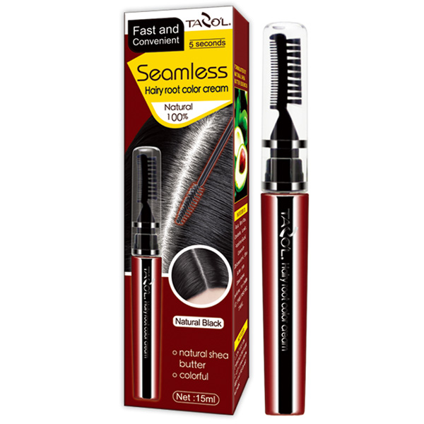 100% Grey Hair Cover Mascara Hair Dye with Light Brown