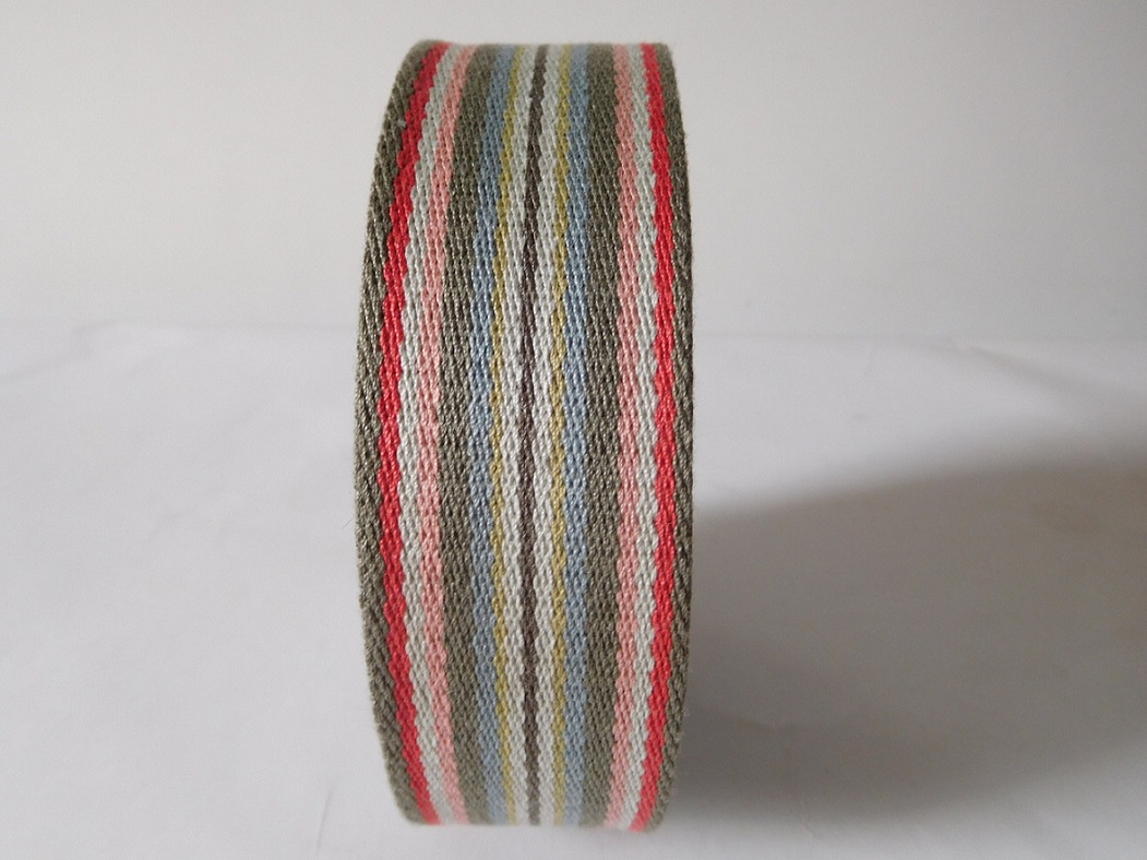 40mm colorful polyester cotton webbing for shoulder belt
