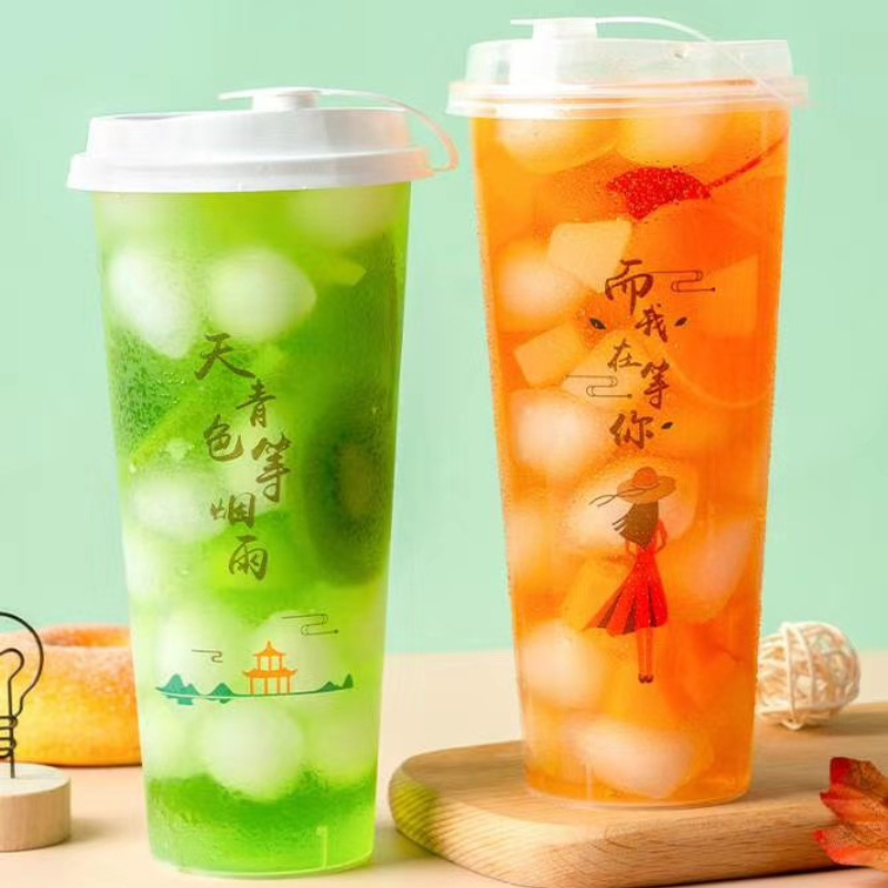 Disposable Plastic Cup for Iced Coffee Tea Water Sodas Juices