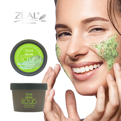 Zeal Pure-Kiwi Face and Lips Scrub Cream
