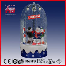 (40110FD180-4S-BS) Snowing Christmas Decorations with Revolving Figures