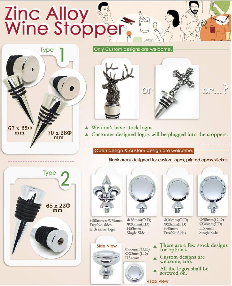 zinc alloy wine stopper