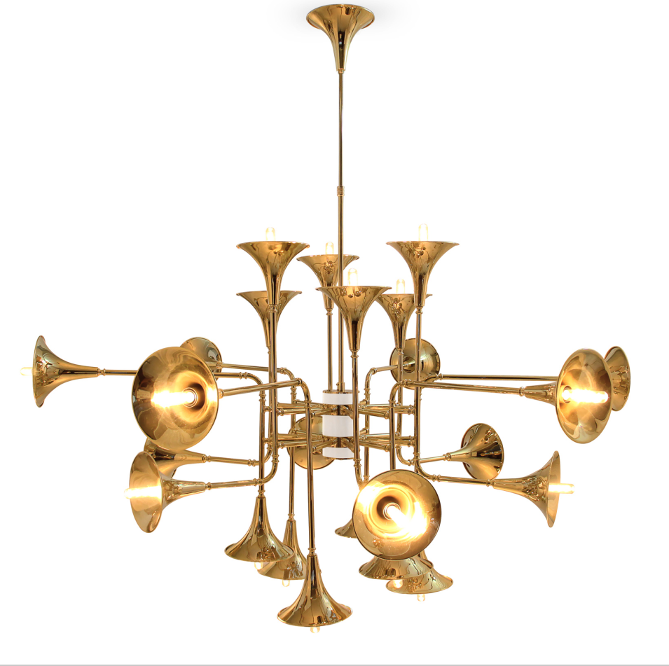 Instrument trumpet shape chandelier for hotel from china botti chandelier instrument trumpet shape chandelier for hotel 71746 arubaitofo Images