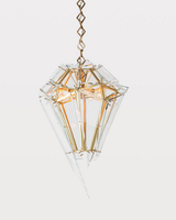 E27 Vintage Simple Light Metal & Glass Pendant Lamp for Indoor Decoration &Hotel Room