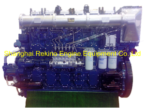 1200HP 1000RPM Yuchai marine propulsion boat diesel main engine (YC6CL1200L-C20)