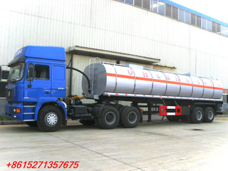 DTA Insulated Crude oil tanker trailer 2axles