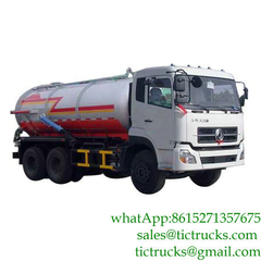 14000L Dongfeng 6x4 vacuum tanker Euro 4,5
