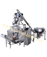 Auger Filler Feeding system complete line for powders, spices, etc