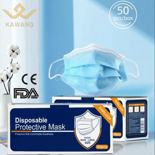 Wholesale professional 3ply protective civil use with ce certified earloop type disposable mouth mask