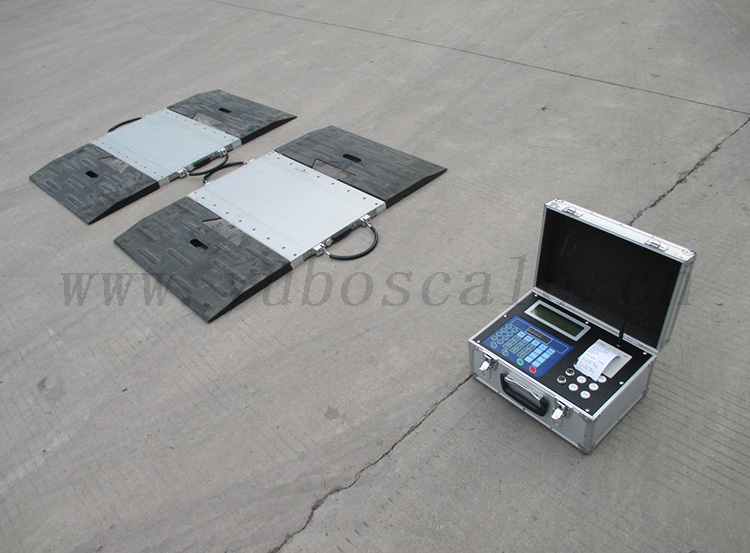 K Series wired / wireless Static Portable Axle Weighing Scale