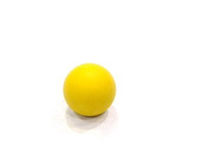 Yellow lacrosse therapy fitness balls for muscle realse