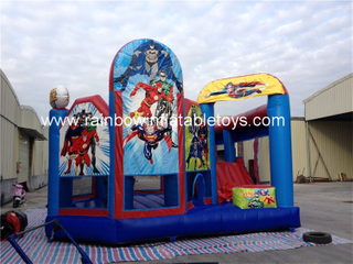 RB3094(6x4x3m) Inflatables Justice League Bouncer Castle For Theme Park