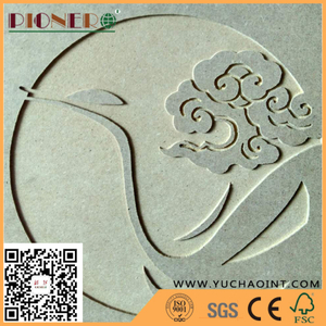 High density E1 Plain MDF Board for carving,decoration and furniture