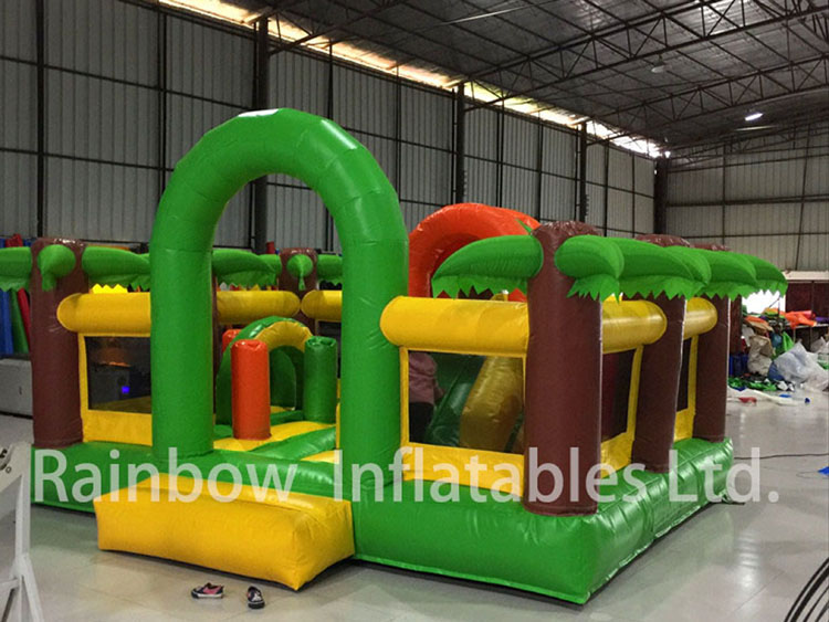 RB1133( 4x3m )Inflatables coconut palm Theme Bouncer