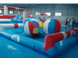 Inflatable Floating island Water park sport games out door hot sale RB32084