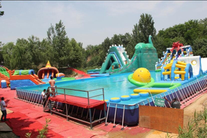 Inflatable Ground Water Park Inflatable Water Toy with Pool