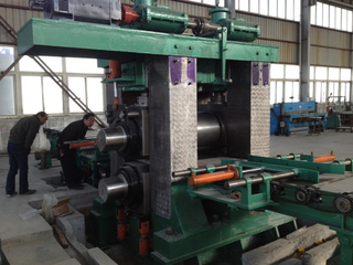 High speed automatic hydraulic 4 high plate bending machine