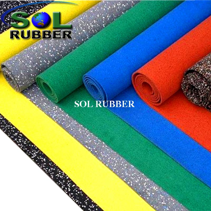 Sol Rubber Epdm Gym Rubber Flooring Roll Epdm Particles