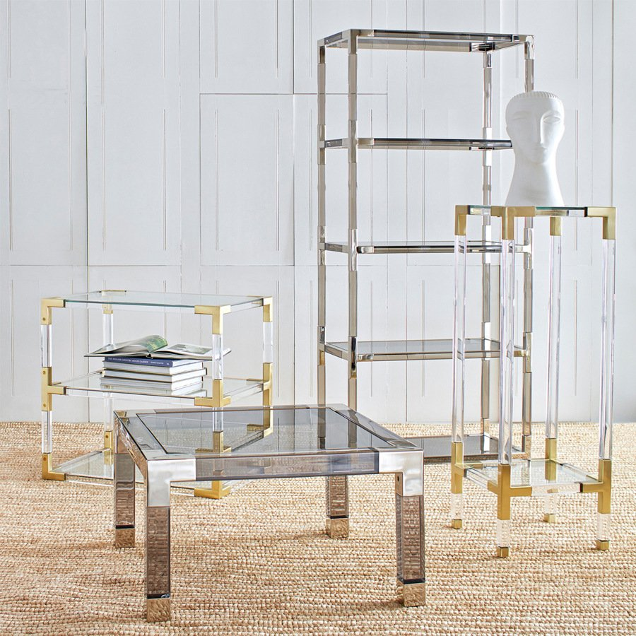 Lucite Living Room Furniture Sets Clear Acrylic Shelf Use