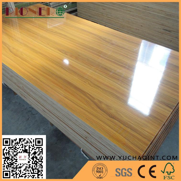 Bon Furniture Grade Wood Grain Glossy Melamine Plywood
