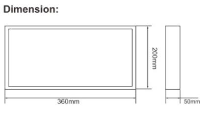 IP65 Rechargeable 50 pcs LED Bulkhead