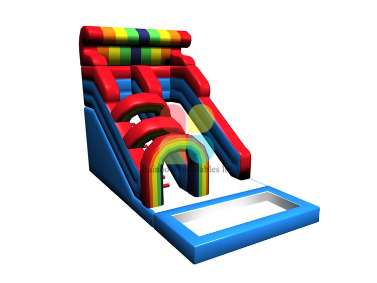 RB06113(4x8x5m)Inflatable Colorful rainbow Slide for sale