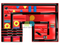 RB04148(9.5x6.5x5m) Inflatable giant red obstacle funcity new design for sales