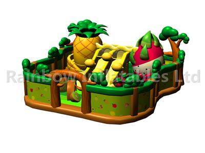 RB04130 (13x12m) Inflatable Fruit house funcity with slide new design for sales