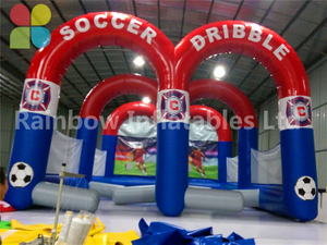 RB9093(8x5.5x3.7m) Inflatable Soccer Dribble Sport Game For Sale