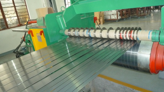 Highly automatic stainless steel slitter machine with double knife block