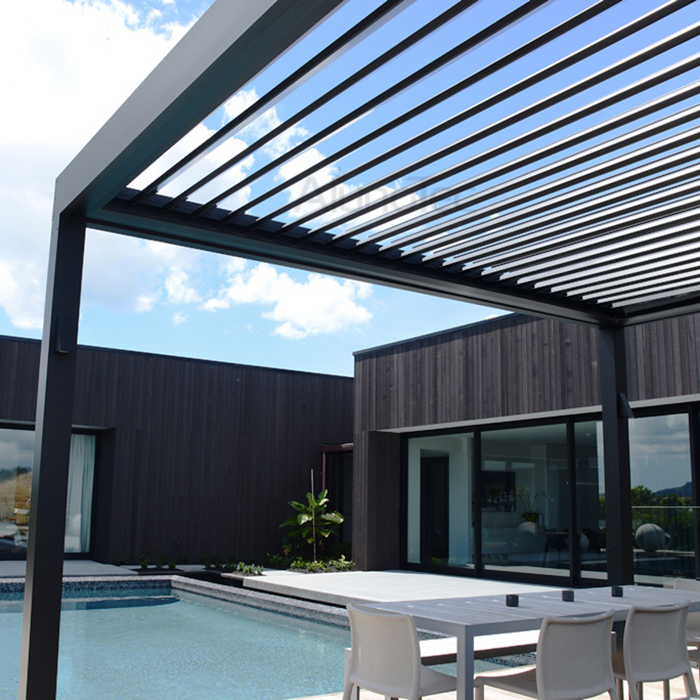 waterproof swimming pool roof aluminum pergola with led light buy pergolas velux blinds. Black Bedroom Furniture Sets. Home Design Ideas