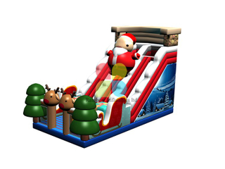 RB06110(14x9x7m) Inflatable Christmas theme snowman slide for kids for sale