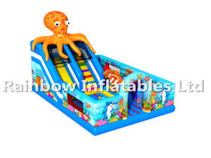 RB4123(7x5x6m)Inflatables Octopus theme funcity with Slide