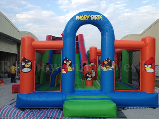 RB4065-1 (5x7x3.8m) Inflatables Angry Birds Theme Jumping Funcity for Kids