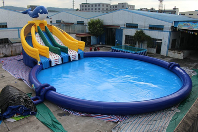 Inflatable Ground Moving Water Park Equipment Frame Pool Park for Sale