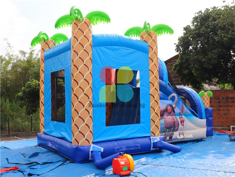 RB01046(8x4m) Inflatable Moana castle/ Inflatable funcity with Slide