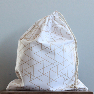 Extra Large Cotton Laundry Bag with Drawstring Closure