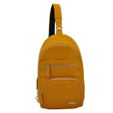 Leather single shoulderstrap backpack