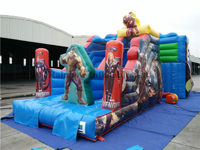 RB6038-4(5.4x3.5x4m) Inflatable Durable Avenger Slide For Outdoor Playground