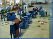 Cold rolling belt rib steel bar production line