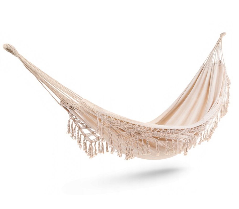 100% Cotton White Canvas Boho Hamak Hammock