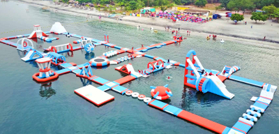 Giant Inflatabl Floating Water Park Adult Inflatable Water Obstacle Course for Sea