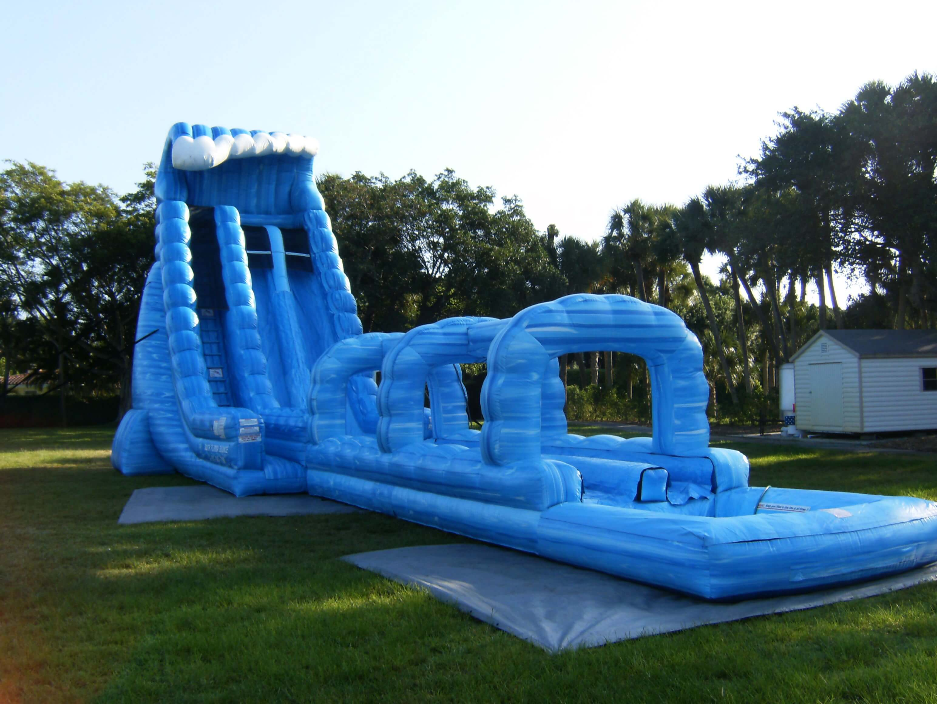 Big Water Slide with Factory Price Inflatable Beach Water Slide