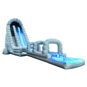 Monster Wave Inflatable Water Slide with Landing