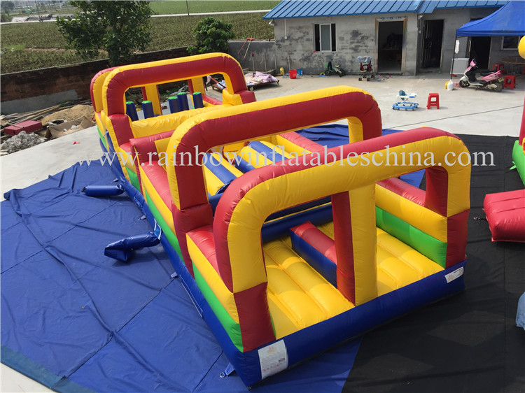 RB5067(10x3m) Inflatable Long Commercial Obstacle Course For Sale