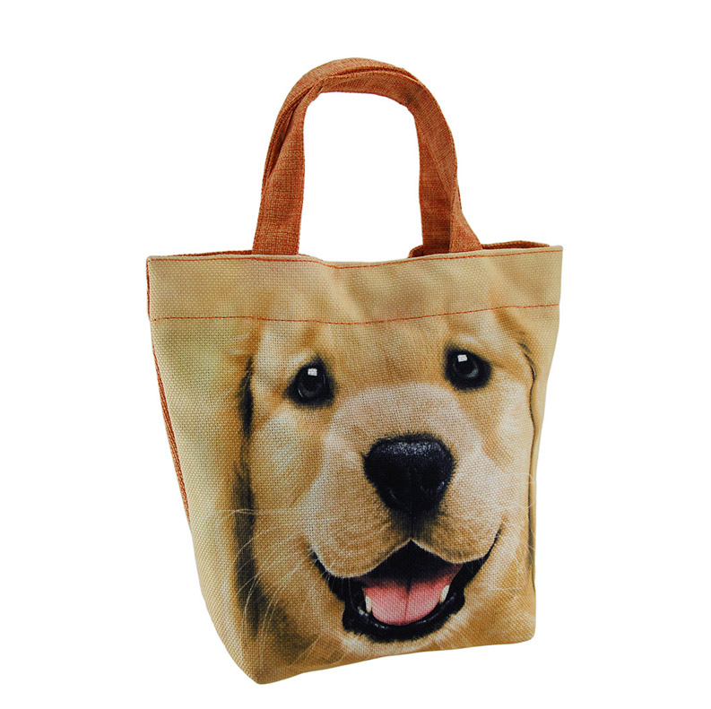 Jute Cotton Lunch Tote Bag