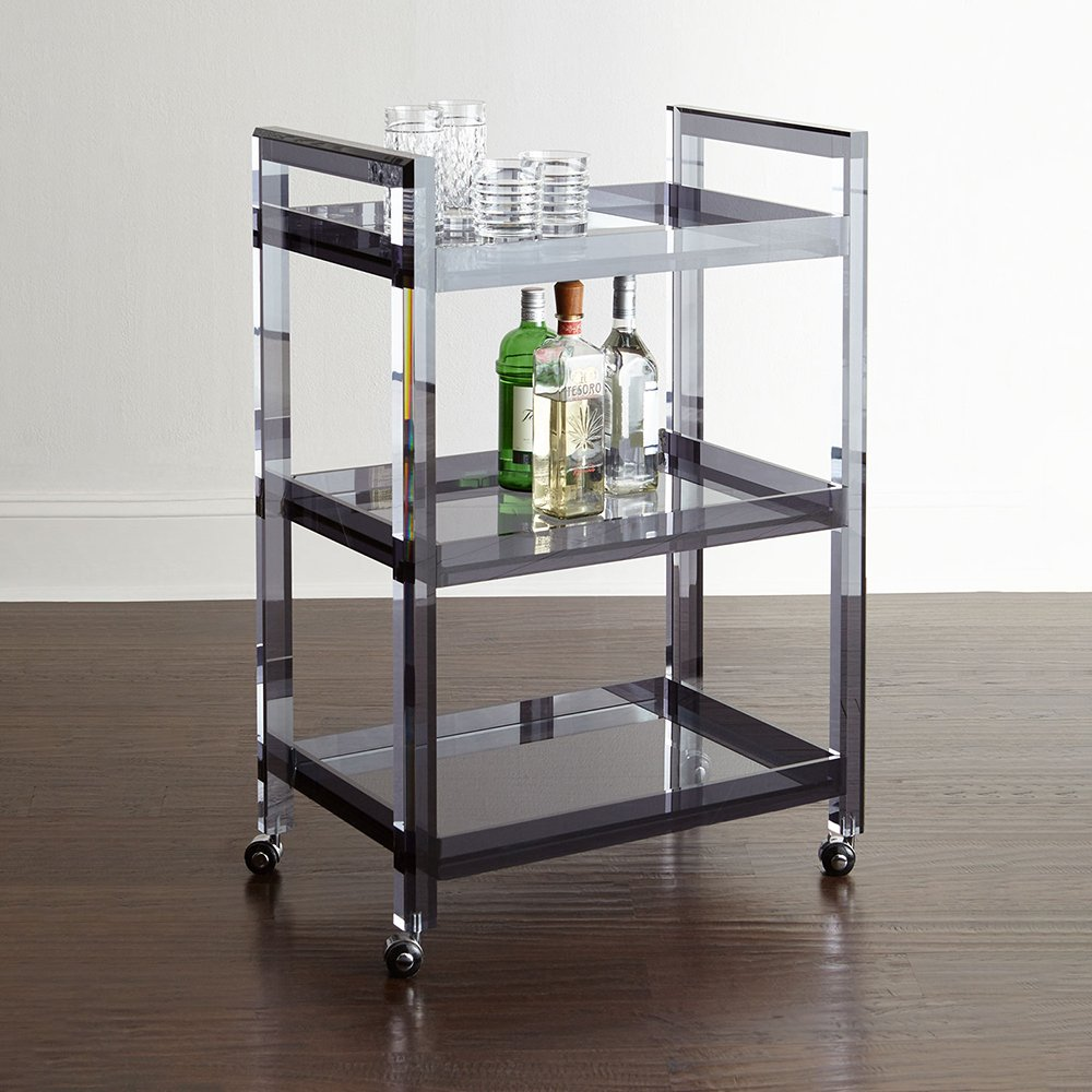 Hotel Metal Cart Glass Acrylic Food Tea Liquor Restaurant