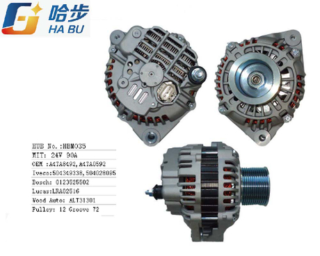 Ac / auto Alternator for Iveco OE:A4TA8492,A4TA0592,504349338