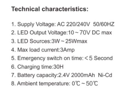 18w led panel emergency backup