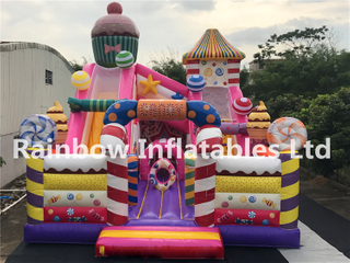 RB01051(12.5X7.5X9m) Inflatables Colorful candy house bouncy